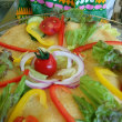 夏野菜ライ麦パン