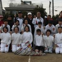 杉戸ジュニアテニス修了式(卒団式)