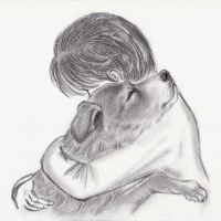 温もりのメッセージ「学校犬アラシ」