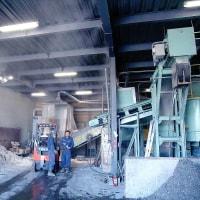 廃棄物処理センターでの防塵・防臭対策にミストシャワー