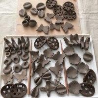 つくる会:陶芸 箸置き