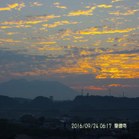 09月24日、朝の桜島