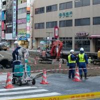 11月11日陥没後の福岡の穴の様子