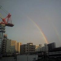 ご褒美の虹?