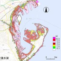 今日は津波ハザードマップ作成中