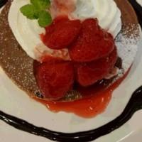 苺のホットケーキ