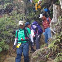 22 宮島(紅葉谷~獅子岩~かや谷~紅葉谷)登山  下山の開始