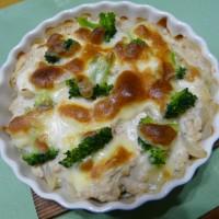 鶏ひき肉&マッシュポテトの豆乳グラタン