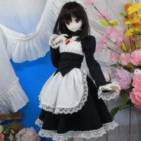 DD・M、L胸用 シンプルメイド服 ミディ