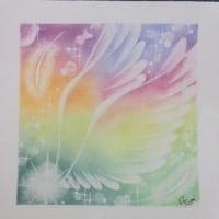 パステルアート「希望の翼」を習いました♪