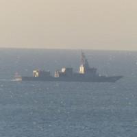 館山湾内の艦船