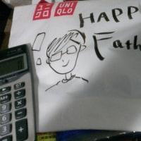父の日 電卓&ユニクロシャツ