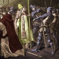 ローマ教皇ボニファティウス8世をローマ近郊のアナーニで捕囚。