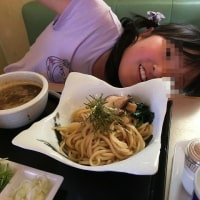 家族で麺を啜る  朝日屋  埼玉県鴻巣市