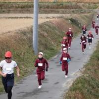 1/24(火)マラソン大会のリハーサルをしました。