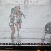 都道府県女子駅伝・京都優勝!雪中