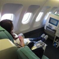 ハワイ 旅の記録 大韓航空 機内