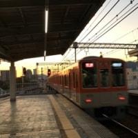 夕焼けの阪神8239F