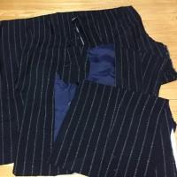 黒のスーツからリメイクのグラニーバック、スーツ解体しました!