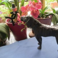 Beautiful antique cast metal spelter Hunting dog