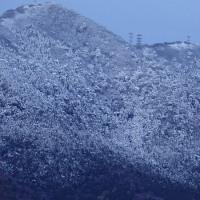 大雪だった筑波山