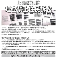 【裁判】4/12上関原発埋立住民訴訟第20回公判