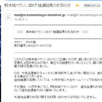 熊本城マラソン2017の抽選結果