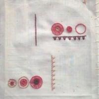 ボタンホール・ステッチの刺しゅう図案 3色目。
