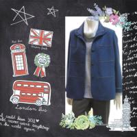 合わせやすいブルーのジャケット