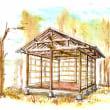 『山の木が家になるまでのWS開催事業』 木材搬入