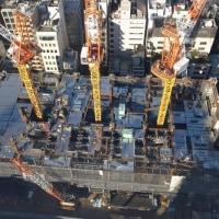 JR浜松町駅周辺再開発、今日のようす。