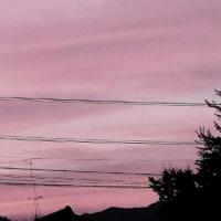 20日の夕空