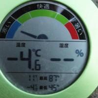 平成29年2月22日・今朝の東祖谷-4.6℃