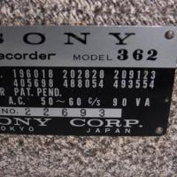 SONY,  Tapecorder 362