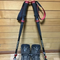 登山靴とトレッキングポール