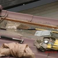 積水化学工業の瓦U 不良品の為、交換工事 9月21日
