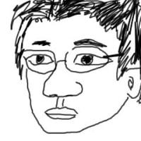 古田選手の似顔絵