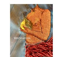 ビーズ刺繍&アリワーク、、、ゴーギャン