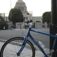 クロスバイクで、往復1時間40分