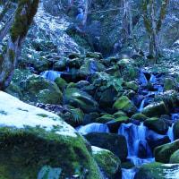 滝巡り、沌滝(どんたき)と立山連峰 ■2017_1_7