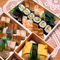 箱寿司&鯛のあら炊き風