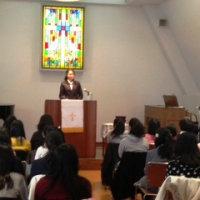 恵泉女学園中学1年生 教会訪問