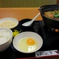 牛すき鍋定食うどんつき 2016.11.26