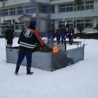 帯島小学校区の正月行事「どんと祭」に参加して…楽しんできました