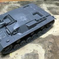 タミヤ1/48 III号突撃砲B型製作記 その3・車体上部の組立て開始