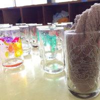 新しい体験メニューと、最近の吹きガラス体験模様