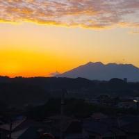 2017年5月22日、朝の桜島