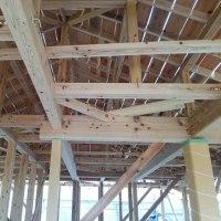 庫裡新築工事 屋根下地