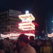 昨日から桐生祭りで、昨夜は祭りを見に行きました。