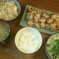 昨日の夕食は 鶏もも肉のレモンペッパー炒め・・・♪